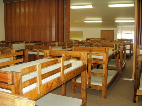 Beds in lodge dorm